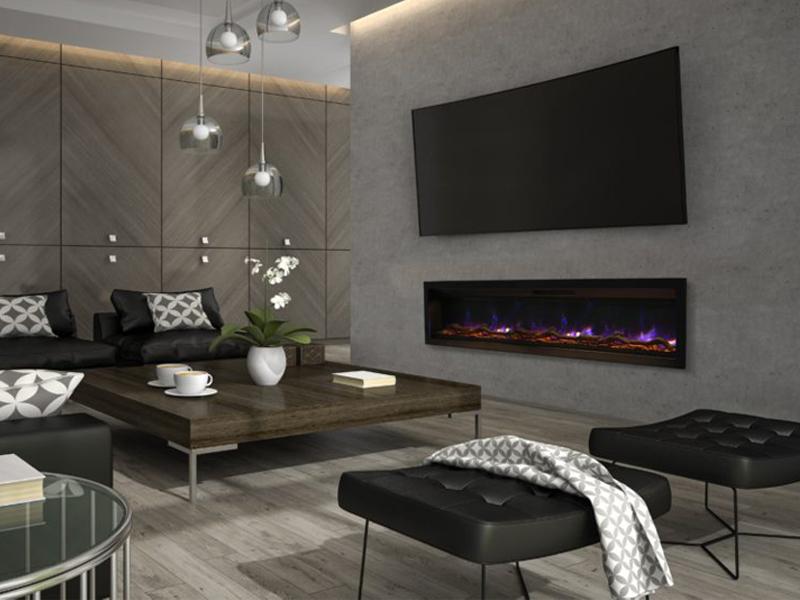 Foyer électrique ambiance 60 ''