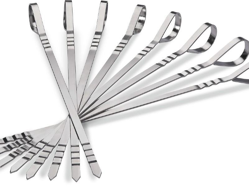 Ensemble de 8 brochettes multifonctionelles en acier inoxydable